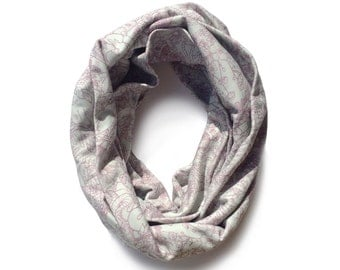 Flora and Fauna Infinity Scarf - Organic Cotton