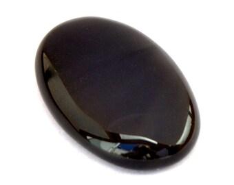 Gray Obsidian Cabochon Stone (38mm x 24mm x 9mm) - Oval Cabochon