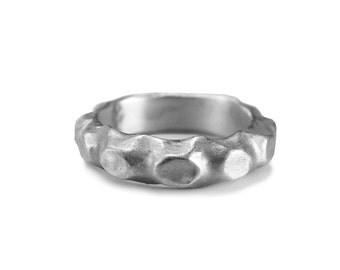 chunky silver ring, silver band ring, man ring, male ring, silver band, handmade jewellery, man ring silver, wide ring, unique silver ring