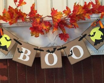 Halloween Decorations - Boo Banner - Halloween Photo Prop - Halloween Party Decoration - Halloween Decor- Halloween Photo Prop