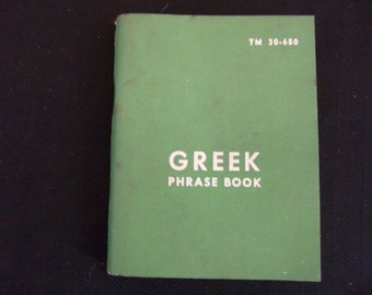 Greek Phrase Book - U.S. Government Printing Office 1960