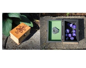 Cthulhu HP Lovecraft large Dice  Box