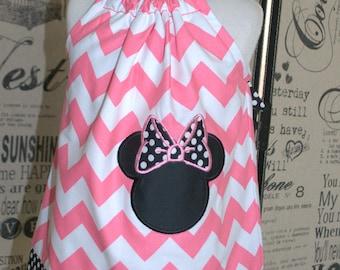 Minnie Mouse Dress, Girls Minnie Dress, Minnie Birthday Dress, Minnie Toddler Dress, Minnie Party Dress, Pillowcase Dress, Minnie Pink Dress