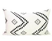 Peter Dunham Textiles Taj lumbar pillow cover in Onyx/Ash