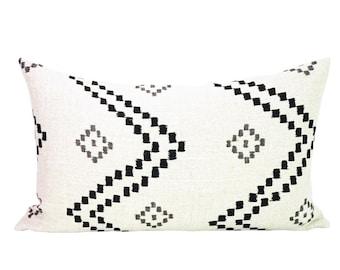 Taj lumbar pillow cover in Onyx/Ash