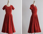 1950s Persian Red Cocktail Dress
