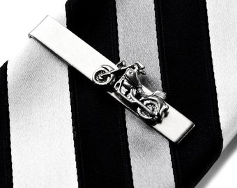 Motorcycle Tie Clip - Tie Bar - Tie Clasp - Business Gift - Handmade - Gift Box Included