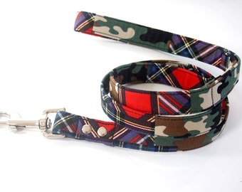 Tartan Plaid Camo Dog Leash