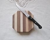 "Wood Cutting Board - Small Butcher Block Cutting Board - Cheese Cutting Board - 5.25"" x 5.25"" x 1.25"" - READY TO SHIP"
