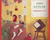 Vintage Bernat Gift Bazaar Pattern Book Scarves Hats Knit Crochet 1956