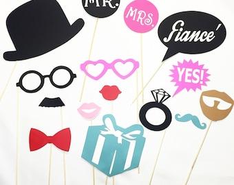 Engagement party props!
