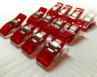 Quilt binding clips, wonder clips, 1 dozen mini clips in a cute tin