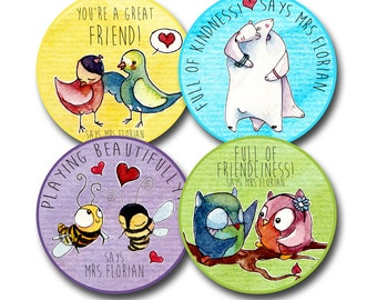 FRIENDLY FRIENDS Personalized stickers for Teachers