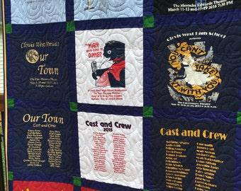 """T Shirt Quilt, 12 Shirt Traditional Block T-Shirt Quilt, 12 Shirt TShirt Quilt (DEPOSIT), """" T Shirt Quilt"""", T-Shirt Quilt"""""""
