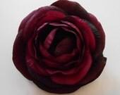 Silk Flower / Purple Ranunculus / Eggplant Colored Silk Flowers / Crafting Flowers / Ranunculus / Artificial Flowers / Diy Hair Flowers