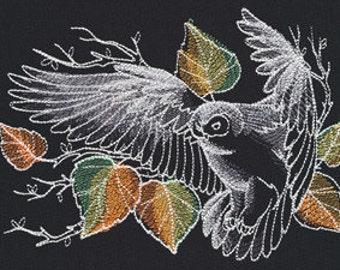Nocturnus Owl Embroidered Flour Sack Hand/Dish Towel