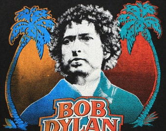 Bob Dylan Shirt Vintage tshirt 1978 Rare Universal Amphitheatre concert tee 1970s Original rock band