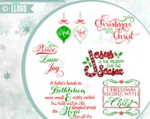 Christmas Begins with Christ Noel LL060 - Vector - Cutting File - Graphic Design - ai, eps, svg, dxf (for Silhouette users), png, jpg