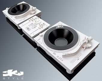 Deck-Tray MKII Deluxe Package - Technics Inspired DJ Turntable and Mixer box Sculpture