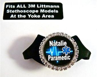 Littmann Bling Stethoscope ID name tag, Fits all Littmann models