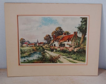 Manual Robbe Antique Print Country Cottage