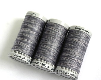 Variegated cotton thread, Gutermann variegated Sulky cotton, multicoloured sewing and embroidery thread, Shade 4028