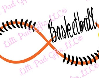 Basketball Swirl - Cut File - Instant Download - SVG and DXF for Cameo Silhouette Studio & Cut Machines