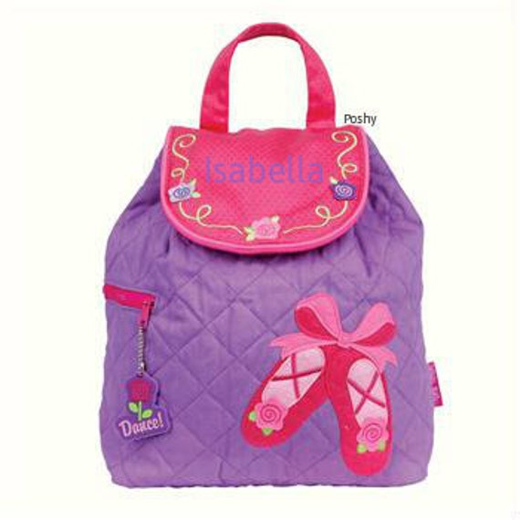 Personalized Backpack Stephen Joseph Ballet Shoes Quilted