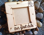 our First Date Picture Frame with initials boyfriend girlfriend anniversary selfie instagram love