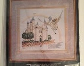 "Jaclyn Counted Cross Stitch Kit #80-228 ""Flight of Fantasy 15"" x 14"" - Craft Kit, Fantasy, Castle, Stoney Creek"