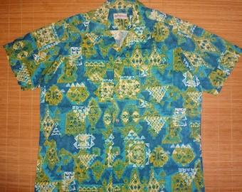 Mens Vintage 60s Duke Kahanamoku Hawaiian Aloha Shirt - XL -  The Hana Shirt Co