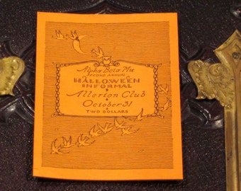Vintage 1920's Halloween Invitation With Matching Envelope