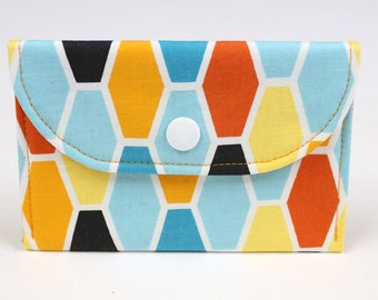 Gift Card Holder - Business Card Case -  Fabric Mini-Wallet - READY TO SHIP
