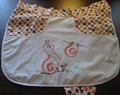 Clothespin Apron with Snail and Polka Dots