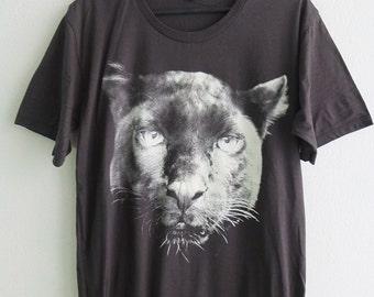 Black Panther Jaguar Graphic Pop Print T-Shirt L or XL