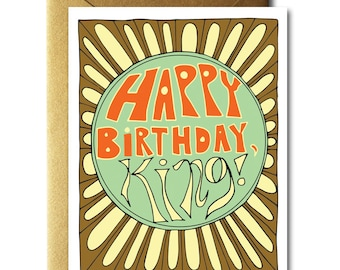 Happy Birthday, King Card