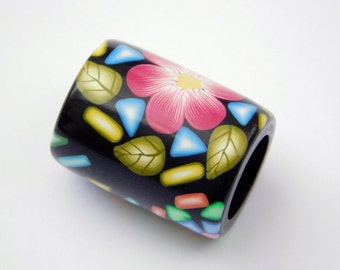 Polymer Clay Dread Bead, 11 mm bead hole