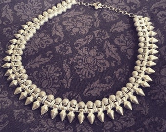 Silver Spike Statement Necklace - Also available in Gold!