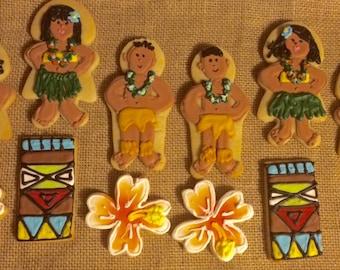 Luau Hawaiian Themed Cookie favors