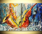 Musical Instruments Jazz ORIGINAL Abstract Painting Fine Art for men Impasto texture Palette knife oil canvas Painting gift by IraSher