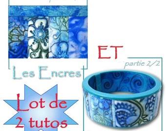 Tutoriel pour utiliser les encres et réaliser un bracelet en polymère : tuto imprimé en français