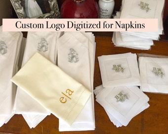 custom logo napkins | etsy