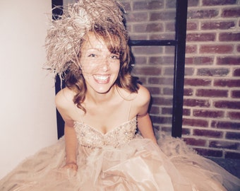 Sale Alix of Miami Tulled Dress Wedding Dress 1950s Formal Dress Party Dress Prom Sweet Sixteen Dress Taffeta Dress Pink Dress Strapless