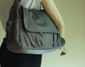 NEW YEAR SALE 30% - Pico in waxed Dark Grey Messenger Bag / Tote / Diaper bag / Women / Laptop / Handbag / School Bag / Shoulder bag / Soho