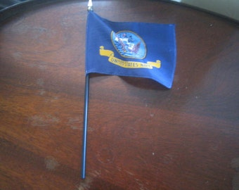 """Vintage Small US Navy Flag 4"""" tall 5 1/2 """" wide"""