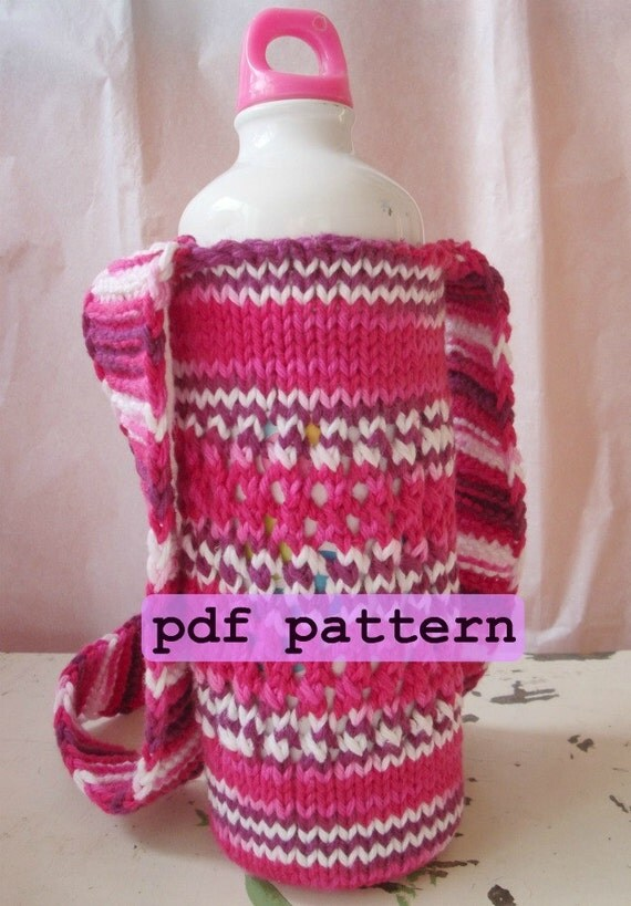 bottle carrier knitting pattern knit water bottle holder