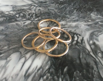 Solid 9ct yellow gold Stacking Ring - Made to Order