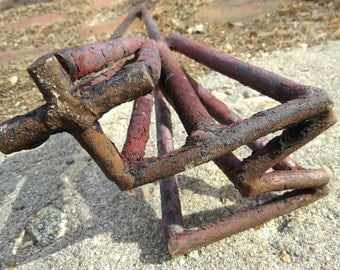 Rustic Antique Hand Forged Western Cattle Branding Iron from Moab, Utah +M or W+