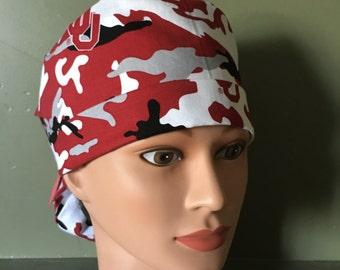 OU ponytail scrub cap
