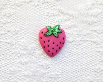 Pink Strawberry Lapel Pin